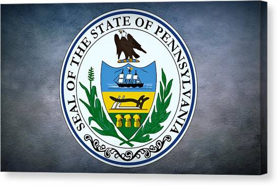 Indian Corn Canvas Print - The Great Seal Of The State Of Pennsylvania  by Movie Poster Prints