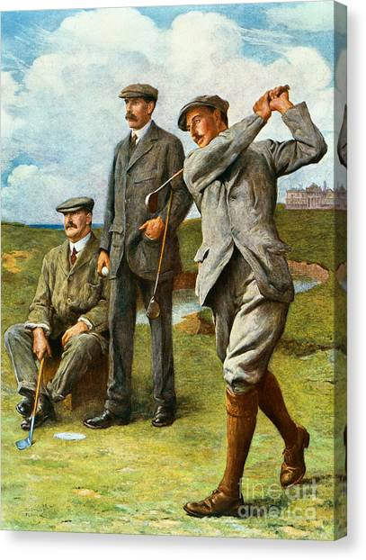 Golf Canvas Print - The Great Triumvirate by Clement Flower