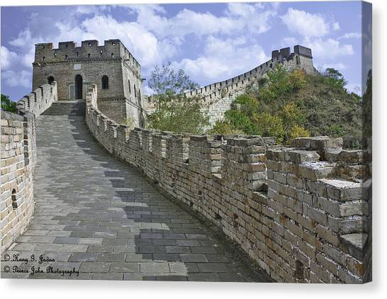 The Great Wall Of China At Mutianyu 1 Canvas Print