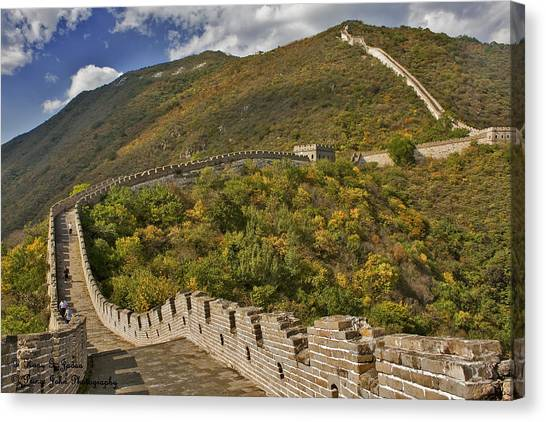 The Great Wall Of China At Mutianyu 2 Canvas Print