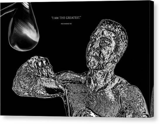 Joe Frazier Canvas Print - Muhammad Ali Chrome  by Brian Reaves