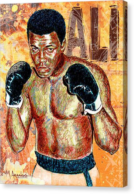 Muhammad Ali Canvas Print - The Greatest Of All Time by Maria Arango
