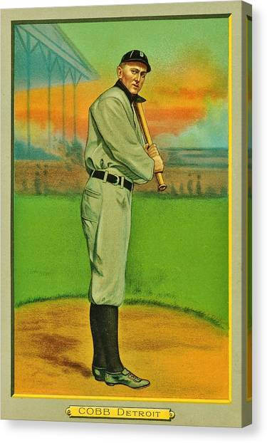 Ty Cobb Canvas Print - The Greatest Tiger by Benjamin Yeager