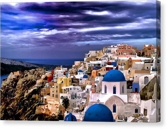 The Greek Isles Santorini Canvas Print