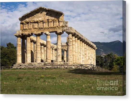 The Greek Temple Of Athena Canvas Print
