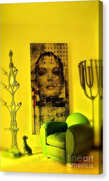 The Green Chair Canvas Print by Taylor Steffen SCOTT
