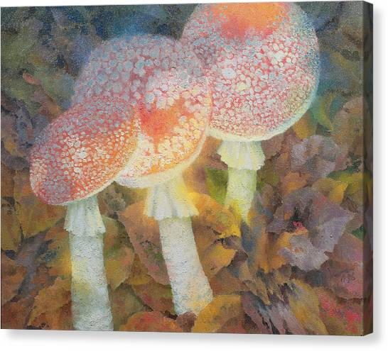 Gathered Canvas Print - The Green Man With Stinkhorns by Glyn Morgan