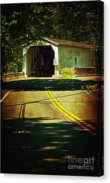 The Green Sergeants Covered Bridge Canvas Print