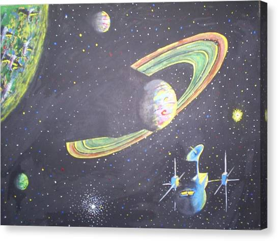 The Green Solar System Canvas Print