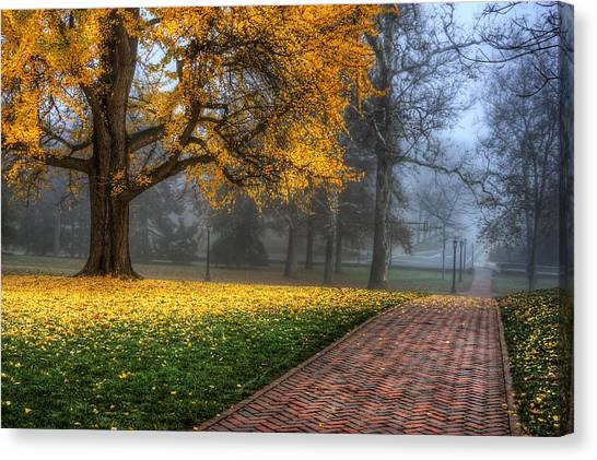University Of Virginia Canvas Print - The Grounds by Malcolm MacGregor