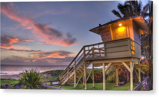 Lifeguard Canvas Print - The Guard Tower by Brad Scott