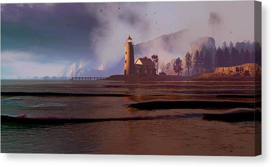The Guardian Of Night Canvas Print