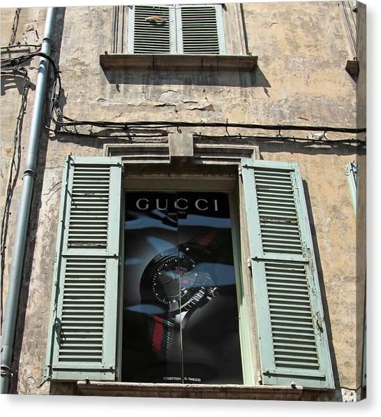 The Gucci Window Canvas Print