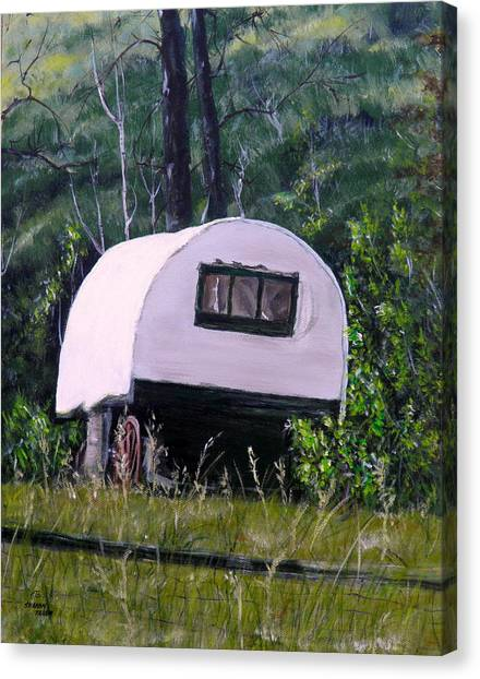 Sheep Wagon Canvas Print   The Guest Cabin By Sharon Tabor