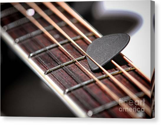 Guitar Picks Canvas Print - The Guitar Pick by Olivier Le Queinec