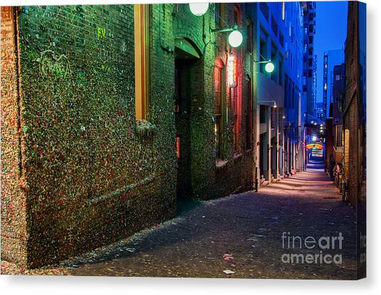 The Gum Wall Canvas Print by Eddie Yerkish