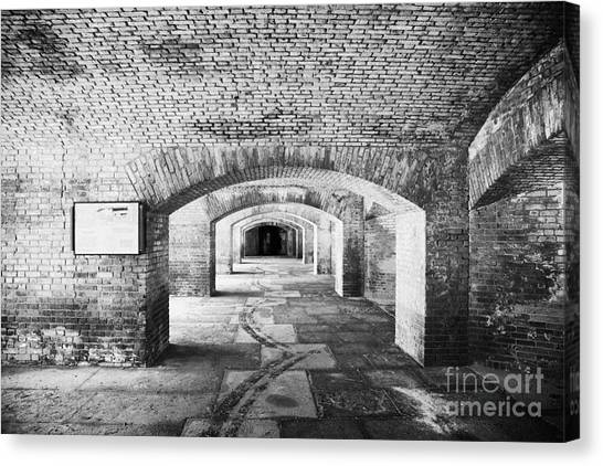 The Gunrooms In Fort Jefferson Dry Tortugas National Park Florida Keys Usa Canvas Print by Joe Fox