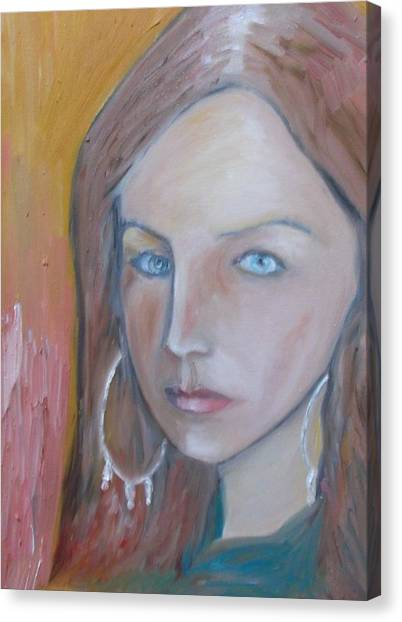 The H. Study Canvas Print by Jasko Caus