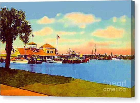 The Halifax River Yacht Club In Daytona Beach Fl In 1920 Canvas Print