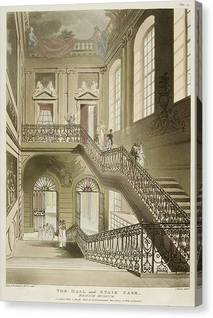 The British Museum Canvas Print - The Hall And Stair Case by British Library