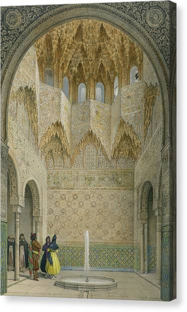 Moorish Canvas Print - The Hall Of The Abencerrages by Leon Auguste Asselineau
