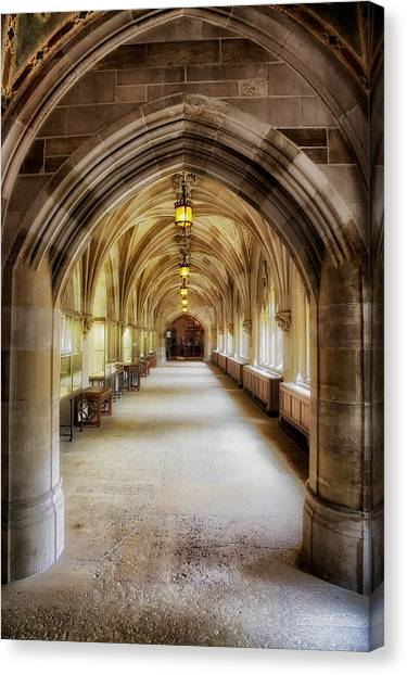 Yale University Canvas Print - The Halls Of Yale by Mountain Dreams