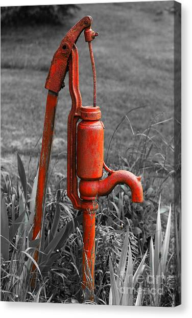 The Hand Pump Canvas Print
