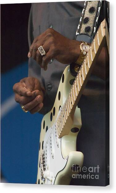 The Hands Of Buddy Guy Canvas Print