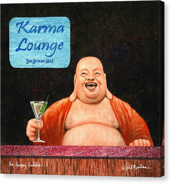 Buddha Canvas Print - The Happy Buddha... by Will Bullas