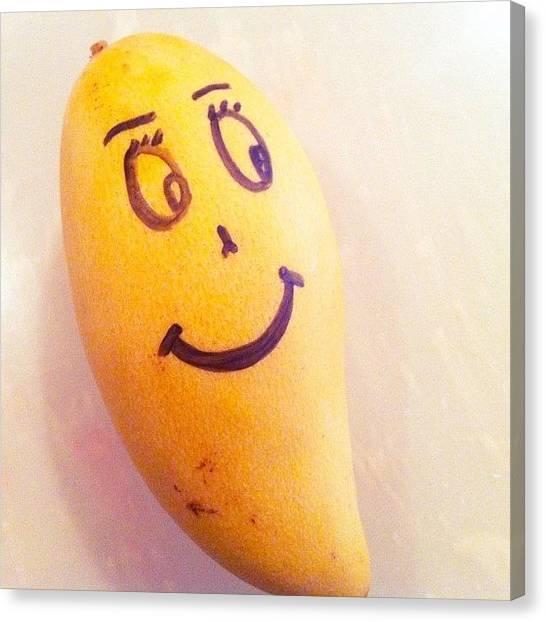 Mangos Canvas Print - The Happy Mango. ✌😊 by S H A N I