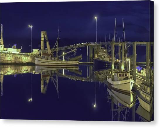 The Harbor At 1030pm Canvas Print