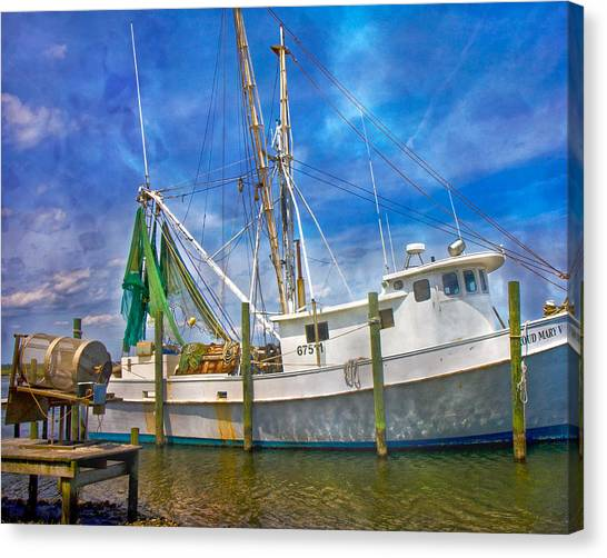 Crabbing Canvas Print - The Harbor II by Betsy Knapp