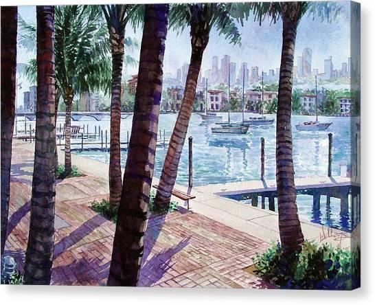 The Harbor Palms Canvas Print