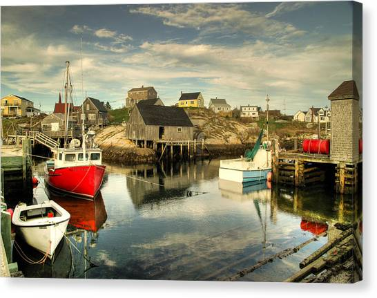 The Harbour At Peggys Cove Canvas Print