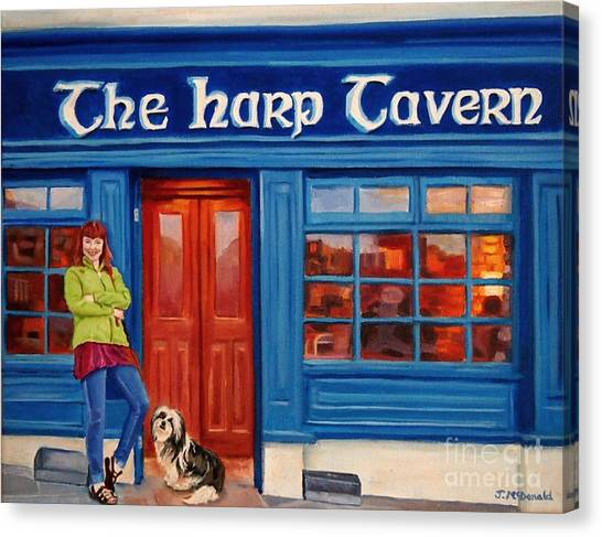 The Harp Tavern Canvas Print