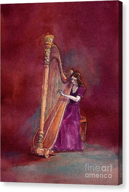 The Harpist Canvas Print
