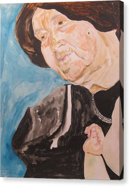 The Hassidic Grandmother Canvas Print