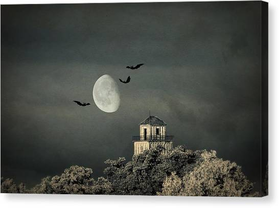 Creepy Canvas Print - The Haunted House by Heike Hultsch