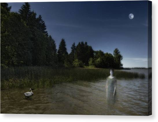 Canvas Print featuring the photograph The Haunting by Belinda Greb