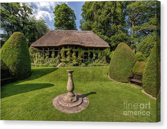 Summer Canvas Print - Thatched Cottage by Adrian Evans