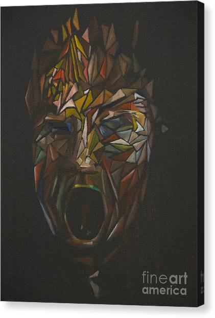 The Head Of Goliath - After Caravaggio Canvas Print