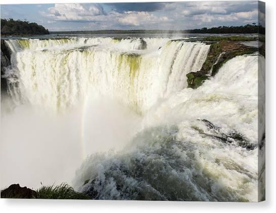 Iguazu Falls Canvas Print - The Headwater Of Iguazu Falls by James White