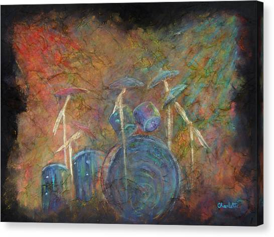 Drums Canvas Print - The Heart Beat  by The Art With A Heart By Charlotte Phillips