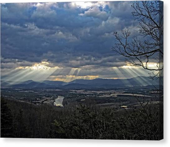 The Heavenly Valley Canvas Print