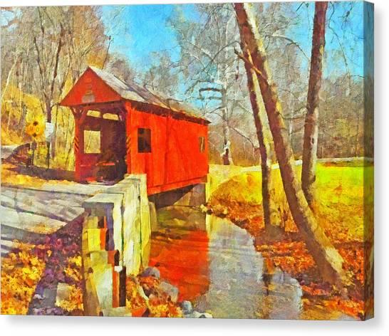 The Henry Bridge At Mingo Creek Park 3 Canvas Print