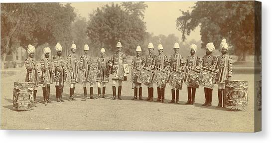 Trumpeters Canvas Print - The Heralds And Trumpeters by British Library