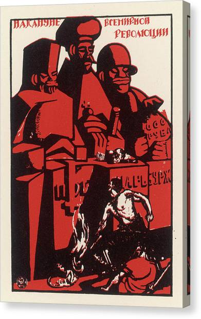 Simplistic Canvas Print - The Heroic Soviet Worker Pits by Mary Evans Picture Library