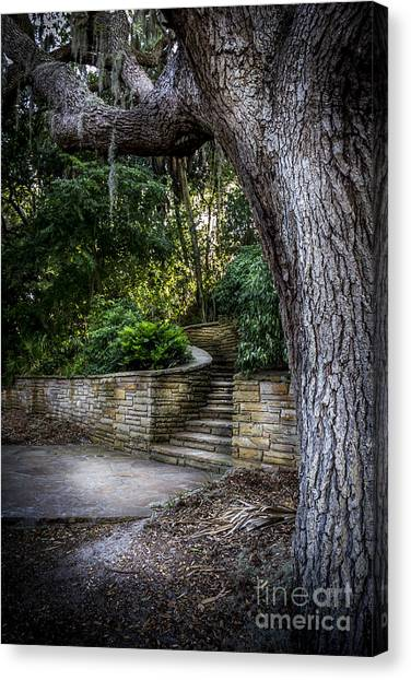 Brick Sidewalks Canvas Print - The Hidden Steps 2 by Marvin Spates