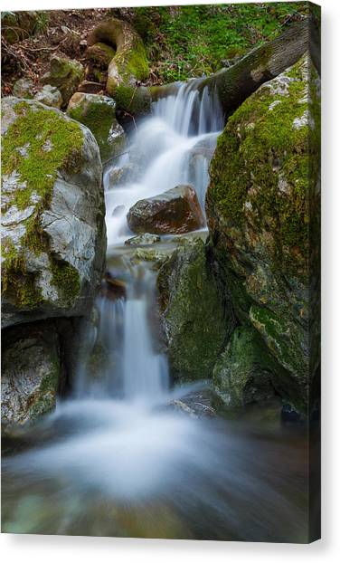 Smokey Mountains Canvas Print - The Hidden Waterfall by Sarit Sotangkur
