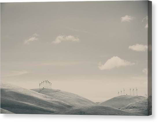 Wind Farms Canvas Print - The Hills by Laurie Search